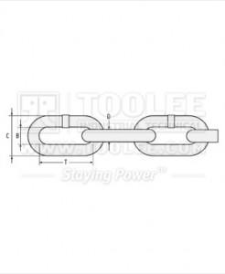 300 1050 Fishing Chain Grade 80 Long Link Drawing 246x300