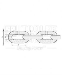 300 1051 Fishing Chain Grade 80 Mid Link Drawing 246x300