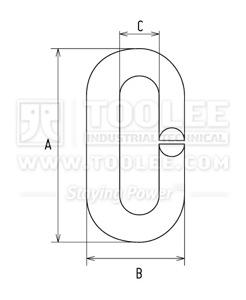 300 1413 Split Link Stainless Steel Drawing