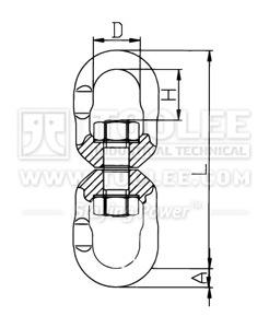 300 1454 Trawling Swivel LF Type Drawing
