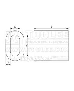 300 2301 Aluminum Sleeve DIN 3093 drawing