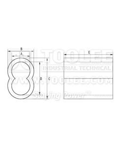 300 2302 Aluminum Sleeve Hourglass DRAWING