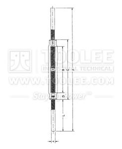 300 6316 Turnbuckle US Type Stub Stub welding ends HS 251 drawing