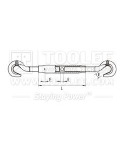 300 6333 Turnbuckle DIN1478 Hook Hook Drawing